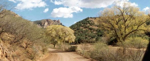 road to SRV ranch